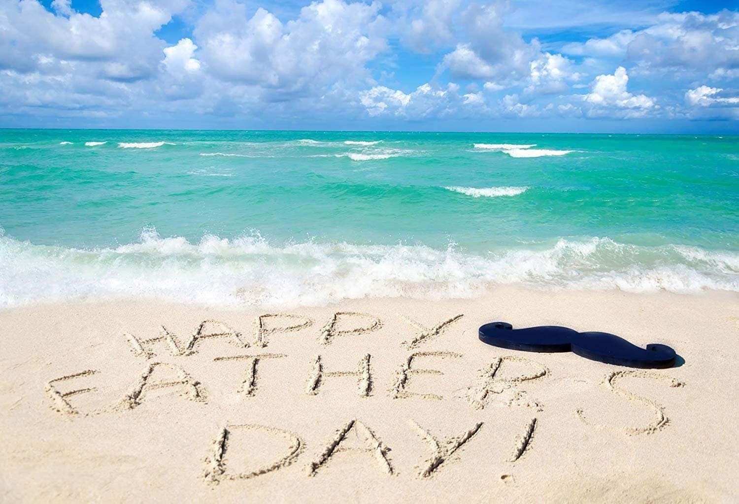 YomyCeo 7x5ft Fathers Day Photography Backdrops Summer Beach Photo Background