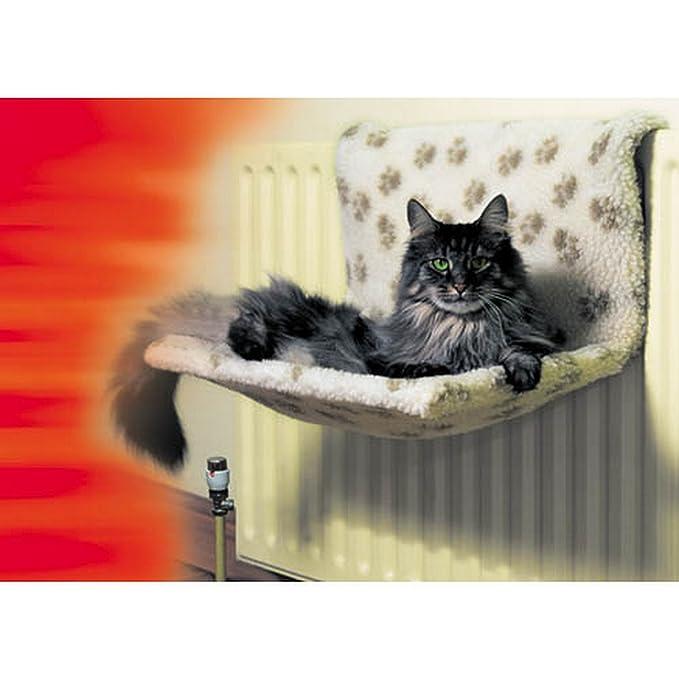 Danish Design - Cama para radiador modelo Kumfy Kradle para gatos (Individual) (Estampado