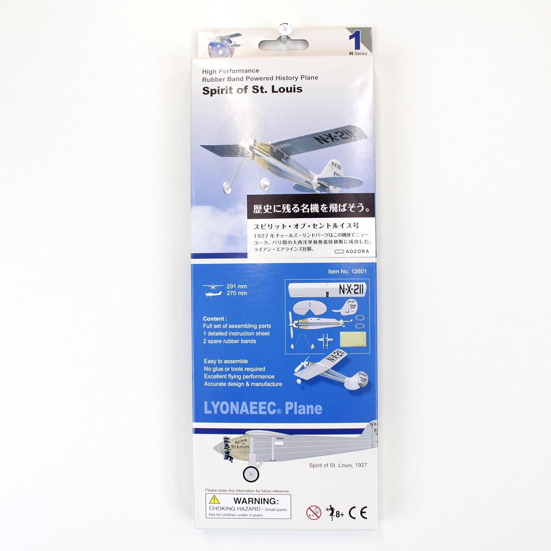 Spirit of St Louis Rubber Band Powered Modellhistorie Flugzeug Kit: Lyonaeec 12601