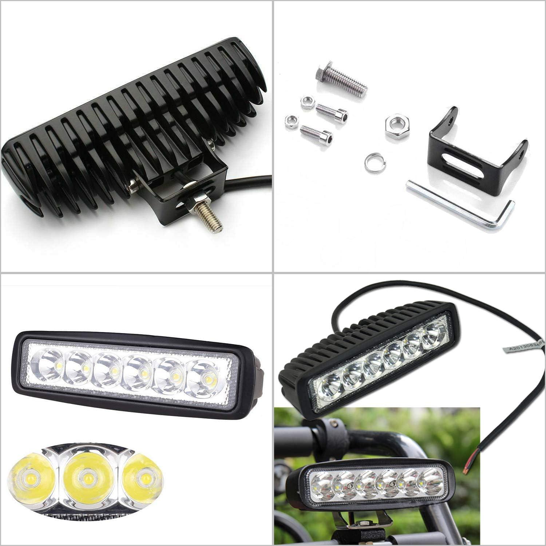 Traktor oder schweres Ger/ät Truck Hengda 10x18w LED Arbeitsscheinwerfer Quadrat IP67 Wasserdicht 1800 LM,10-30V DC,6500K LED Zusatzscheinwerfer f/ür SUV