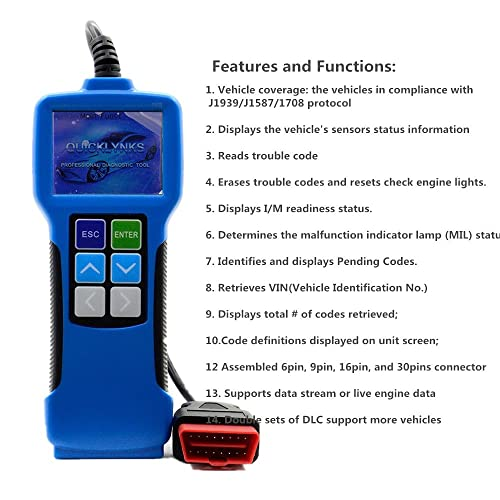 Truck Scanner: 7 Best Heavy Duty Truck Code Reader Scan Tool Review