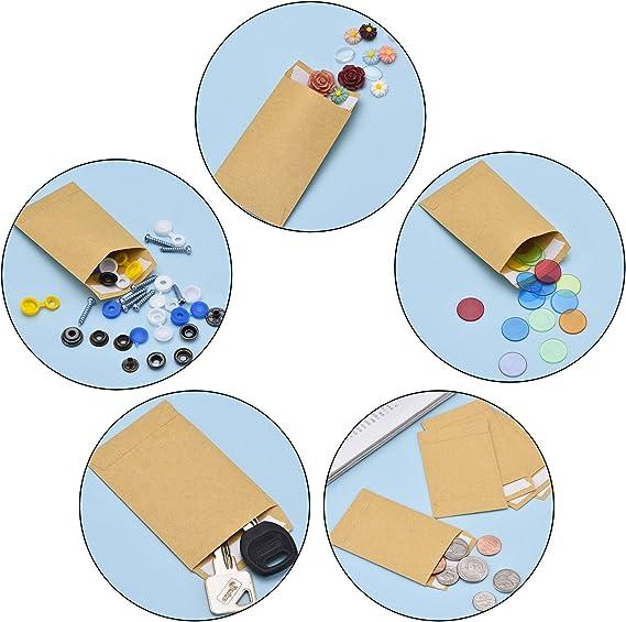 Joyer/ía 60 Piezas de Sobre de Moneda Mini Sobres de Piezas Peque/ñas de Kraft 2,4 x 3,5 Pulgadas para Moneda Sellos /Árticulos Peque/ños Materiales de Artesan/ía