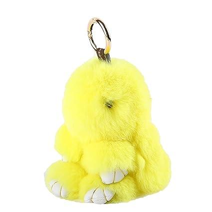 YISEVEN llavero conejito Peluche conejo juguete – adorno conejita lindo para mochila - llaveros peludo colgar del bolso colgantes movilers accesorio ...