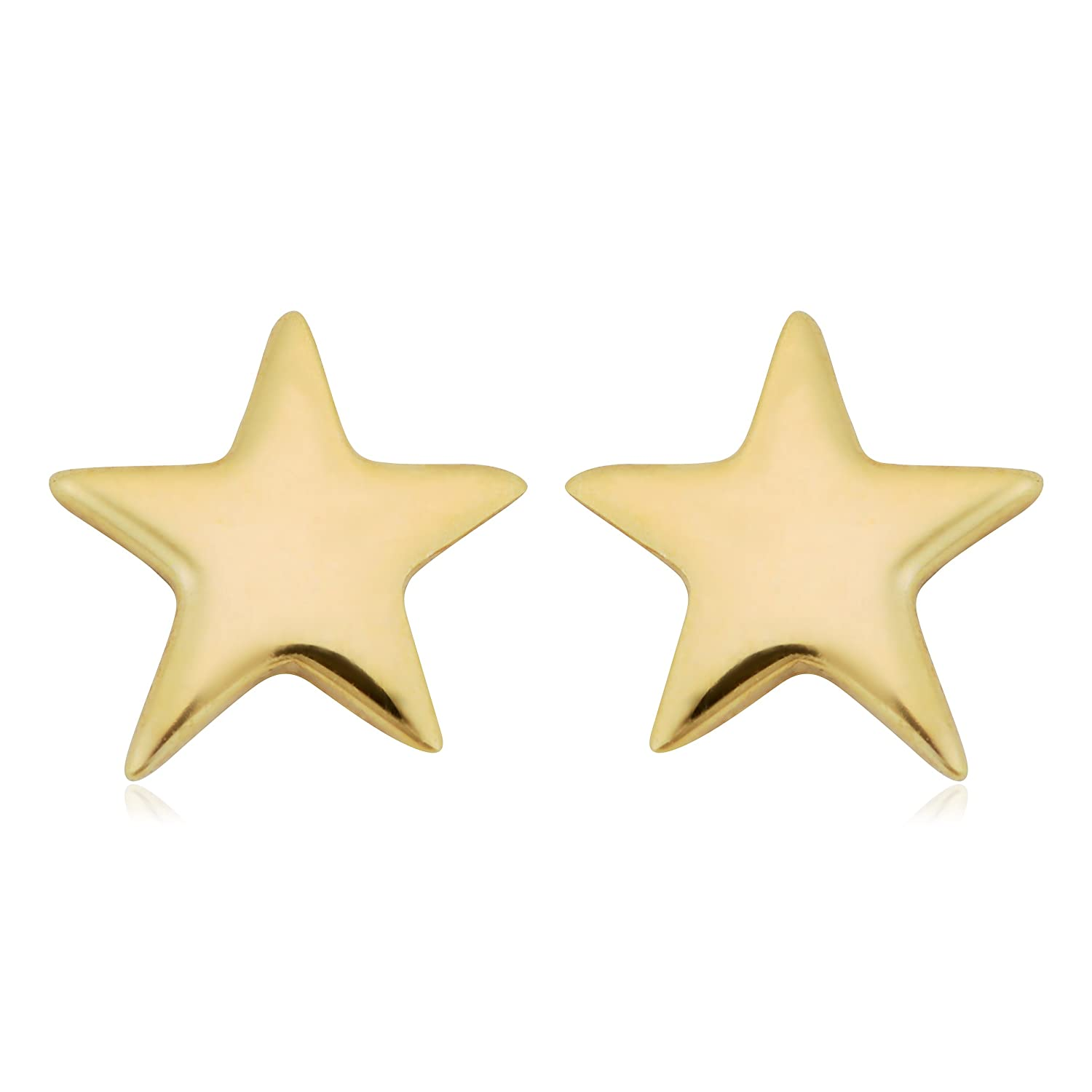 de85ef4bf Amazon.com: 14k Yellow Gold High Polish Petite Star Stud Earrings: Jewelry