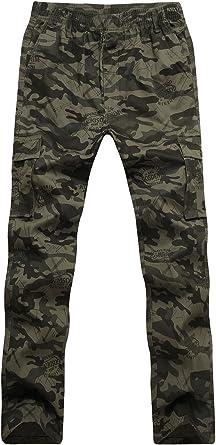 CardanWolf - Pantalones Militares Camuflaje para Hombres Cintura ...