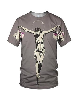 Banksy Jesucristo Con Bolsas De La Compra Hombre Moda ...