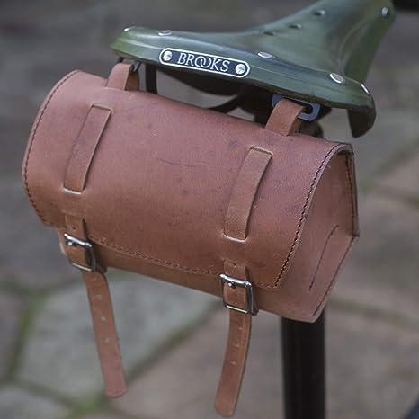 Classic cuadrado bolso sillín de manillar de bicicleta de piel ...