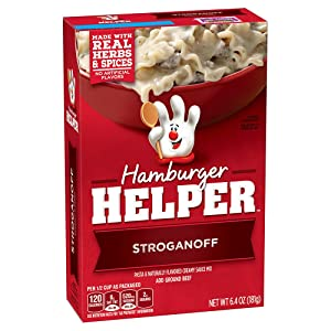 Betty Crocker Hamburger Helper, Stroganoff Hamburger Helper, 6.4 Oz Box (Pack of 12)