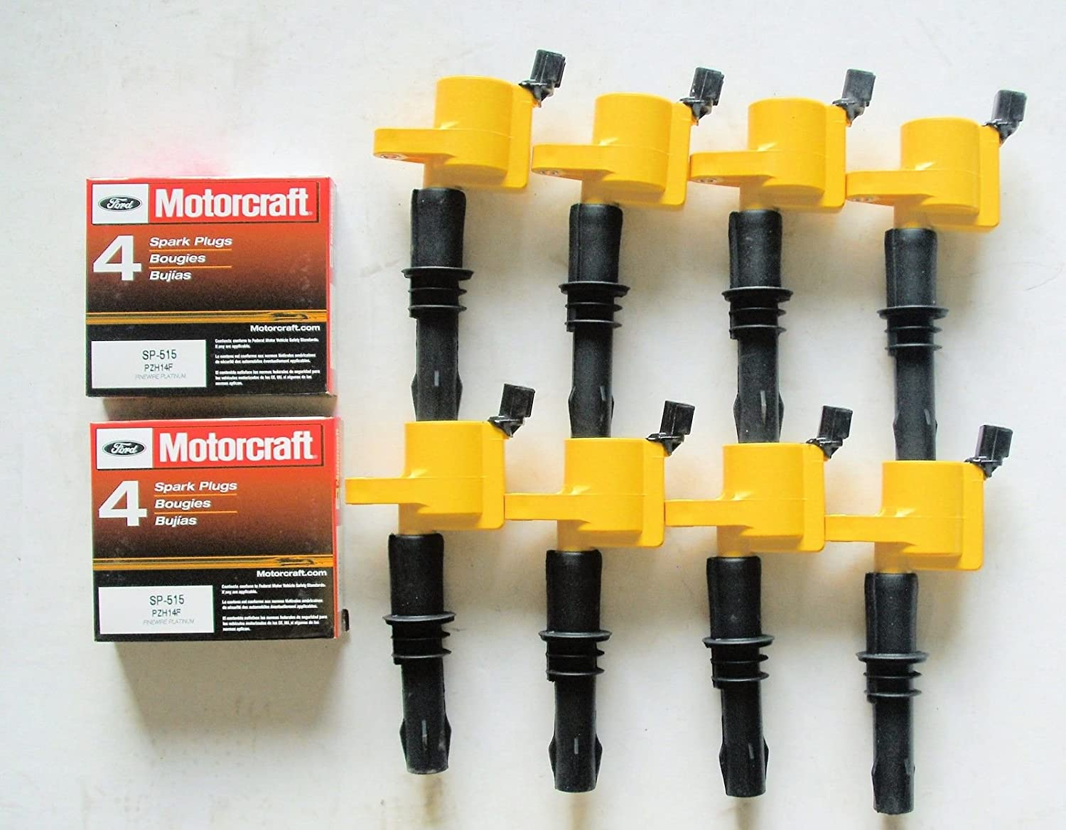 Amazon.com: 8x Ignition Coil Heavy Duty 511 Yellow +8 Motorcraft Plug Sp515: Automotive