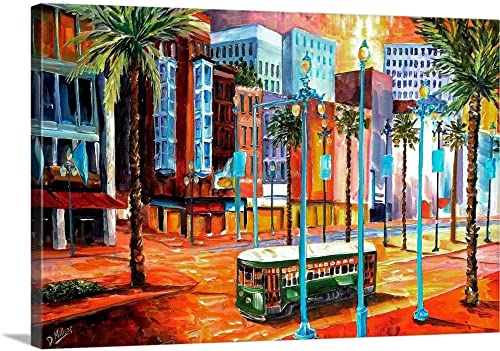 New Orleans' Canal Street Canvas Wall Art Print