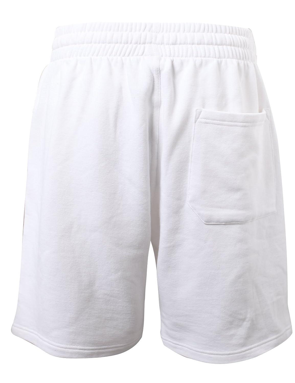 ProGo Mens Classic Fit Casual Fleece Jogger Gym Workout Short Pants with Elastic Waist