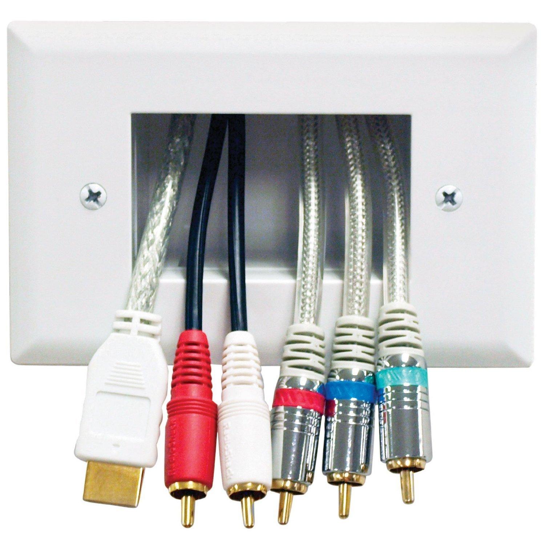 DataComm - 45- 0003-LA 3-Gang Placa de cables de bajo voltaje empotrable en pared (paquete de 2): Amazon.es: Electrónica