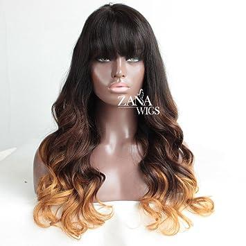 ZANA Human Hair Lace Front Wigs Two Tone