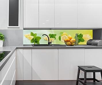 Kuchenruckwand Zitronen Nischenruckwand Spritzschutz Design M0700