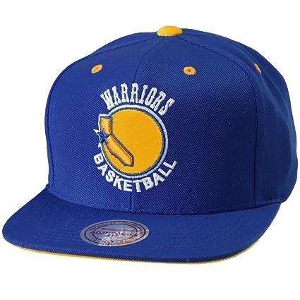 super popular 35251 e2898 Mitchell   Ness NBA Golden State Warriors Solid Velour Logo Snapback Cap   Amazon.co.uk  Sports   Outdoors