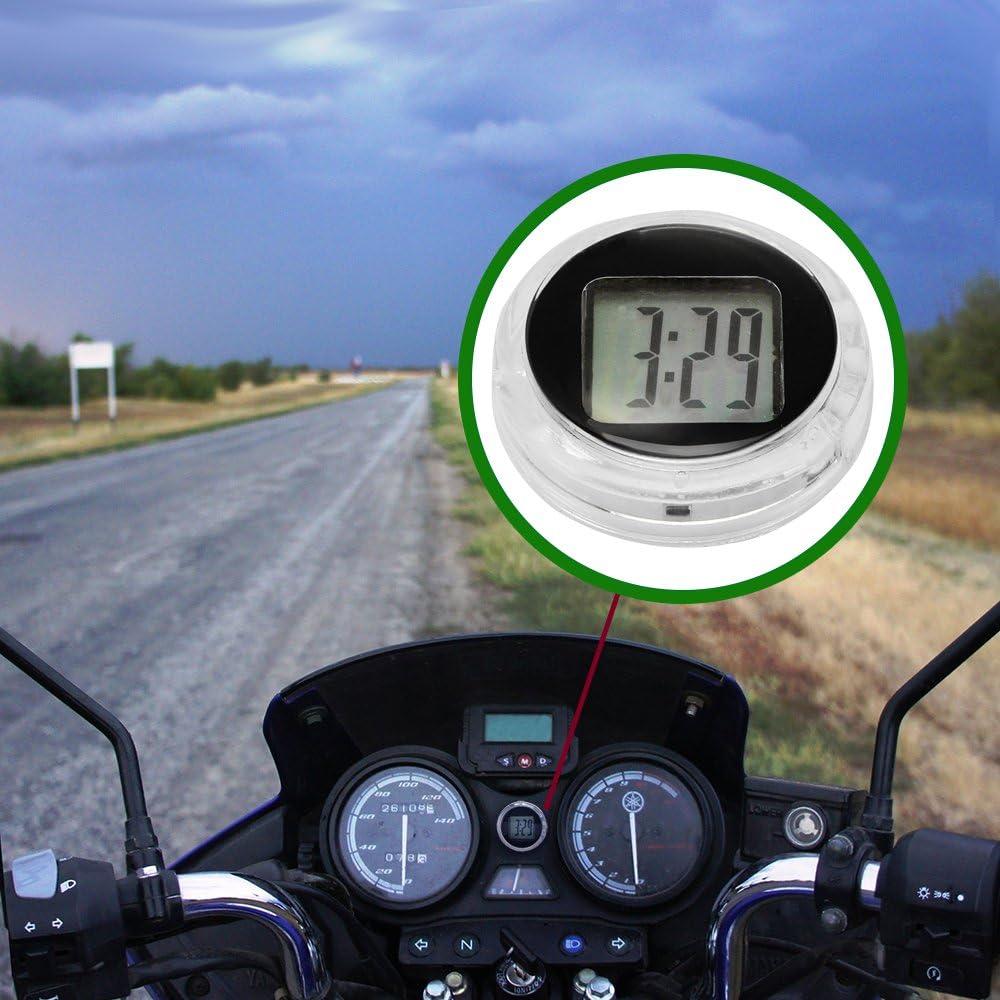 Fornorm Motorrad Uhren Wasserdicht Motorrad Digital Uhr Autouhr Batterie 3m Aufkleber 2 7 1cm 1 1 0 4 Auto
