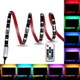 Colohas Bias Lighting TV Backlight for HDTV LED Strips Led Lights with Remote Control,78 inch 6.6ft RGB LED Strip Home Multi Color RGB LED Neon Accent TV Lighting for Flat Screen TV Accessories, Desktop PCable For Flat Screen TV, Desktop PC, Neon Sign Decoration