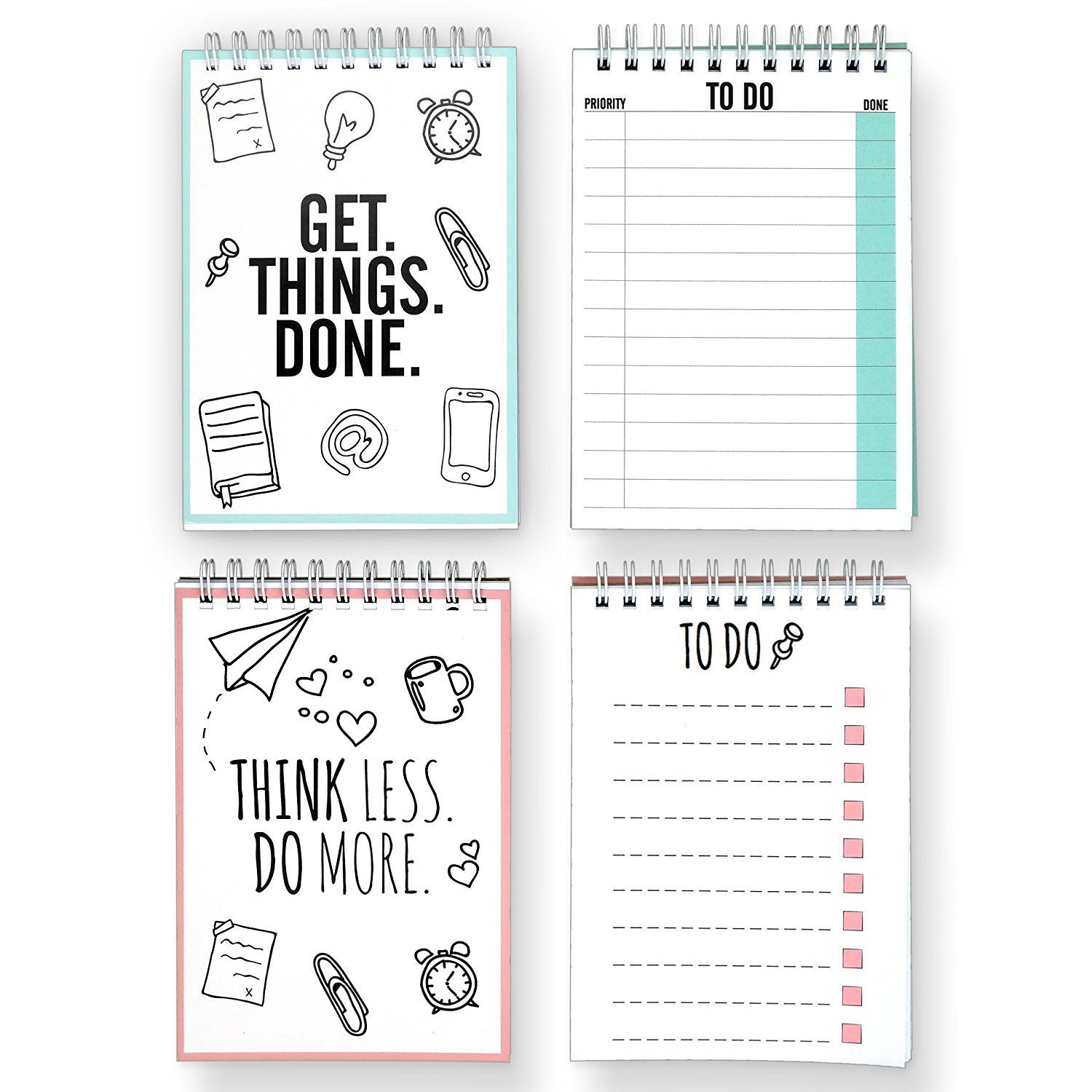 CUPCAKES & KISSES To Do List Double Pack I Notebooks with total 100 tear off Pages I Reminder Cards I 4.1 x 5.8 inches each Notepad I Made in Germany
