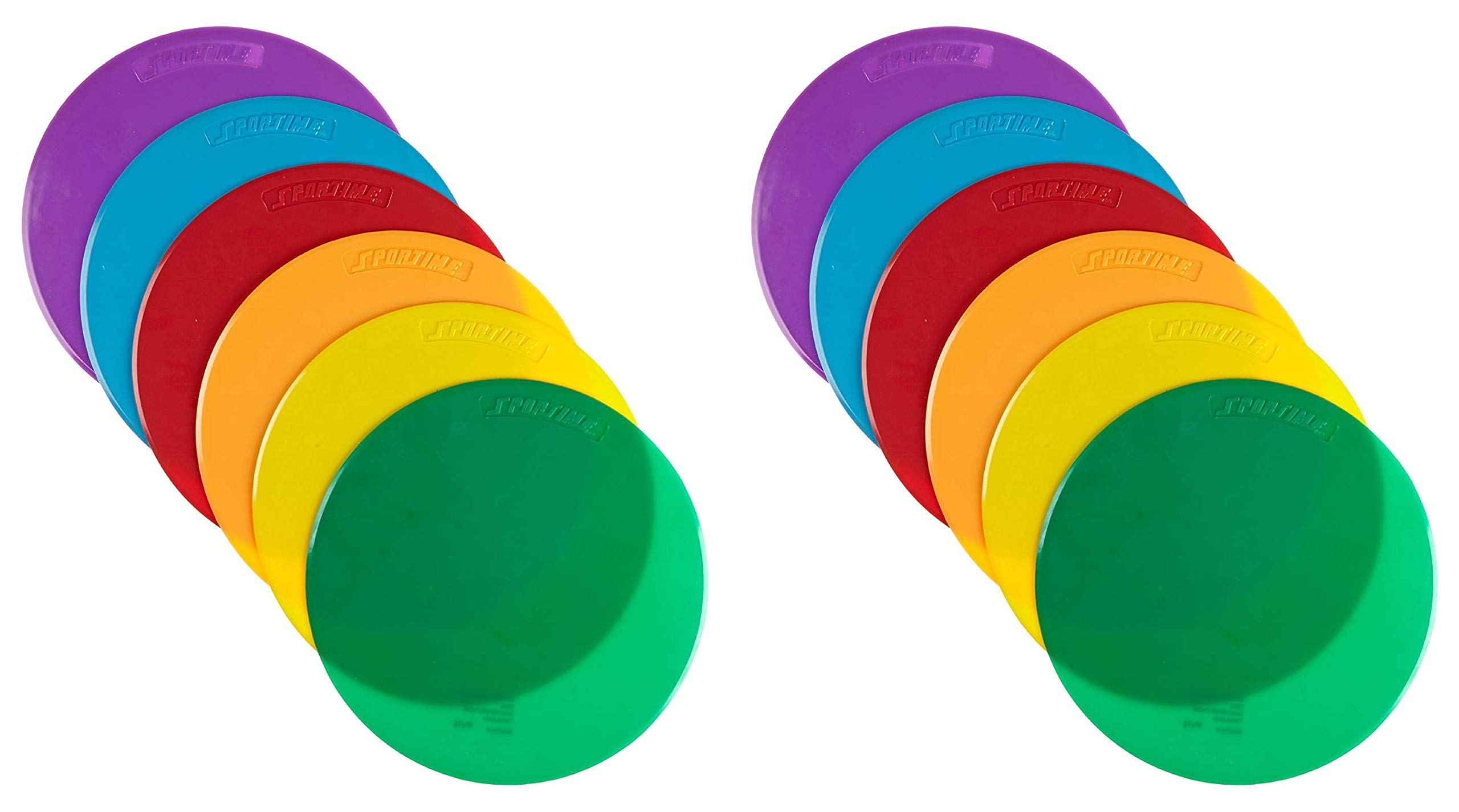 School Smart Spot Markers - 10 Diameter - Set of 6 - Assorted Colors (Тwо Расk)