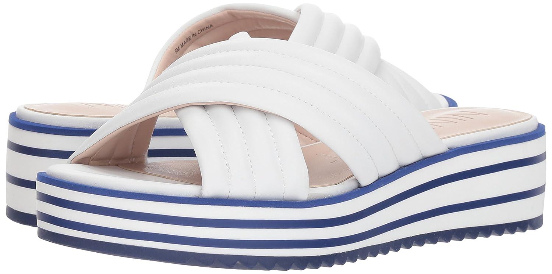 Nine West Women's Zonita Slide Sandal B07BMF33VQ 11 B(M) US White