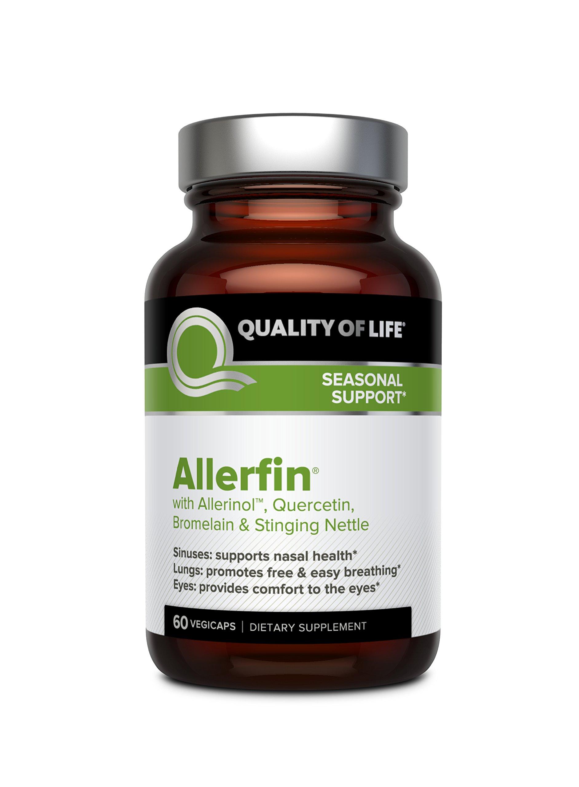Premium Sinus Relief Supplement – Helps Support Sinus, Nasal, Lung, Seasonal & Allergy Relief - Includes Bromelain, Quercetin, Stinging Nettle & Allerinol – 60 Vegetable Capsules