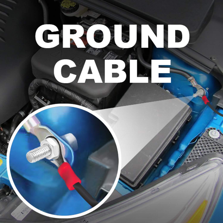 Boss Audio Kit2 8 Gauge Amplifier Installation Wiring Kit 1500w 8ga Car Subwoofer Amp Fuse Holder Wire Motorbike