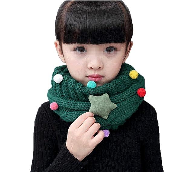 Profondo Blu TININNA Autunno e Inverno Calde Collo Lavorato a Maglia Infinity Sciarpe Sciarpa a Cerchio Scaldacollo Sciarpe per Bambini Ragazzi Ragazze