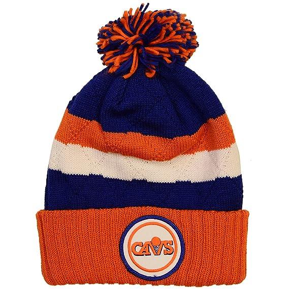 102e8cecb29 ... ebay amazon nba mitchell ness vintage jersey stripe hi five knit hat  with pom one size