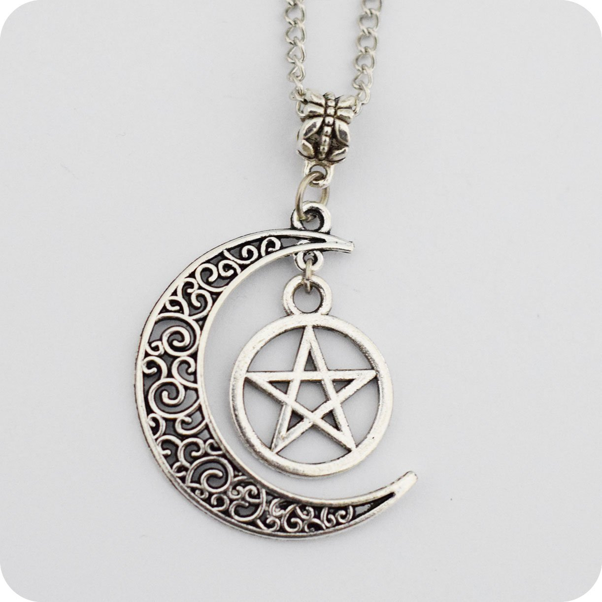Pentagram and Crescent Moon Pe...