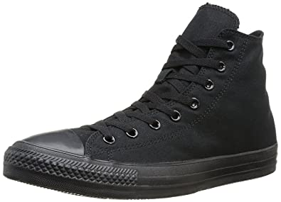 Converse Unisex Chuck Taylor All Star Hi Monochrome Black Sneaker - 4 Men -  6 Women
