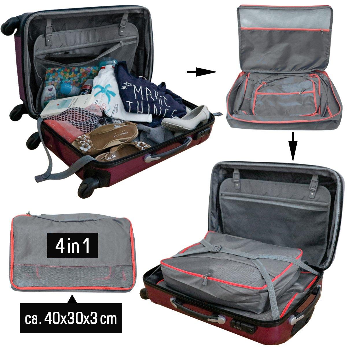 9441a060d7 eyepower 4 Organizer per Valigie S-XL set di sacche di tela rettangolari  Grigio: Amazon.it: Valigeria