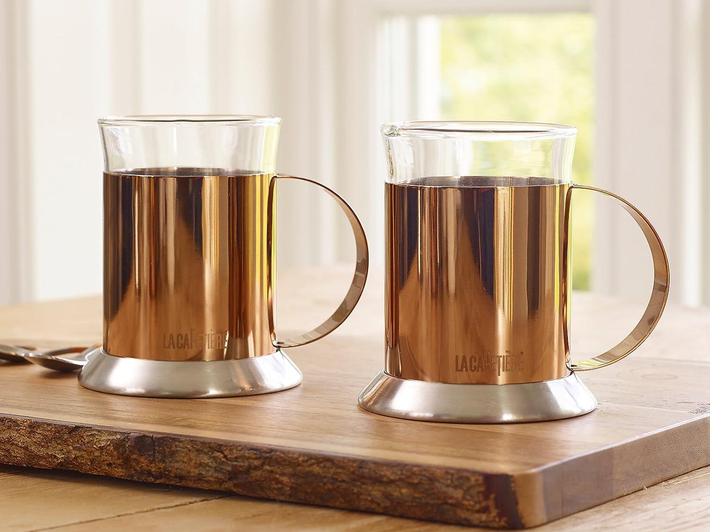 Acciaio Inossidabile La caffettiera Tazze di Vetro Cooper 2.05 x 5.95 x 5.05 cm Set di 2