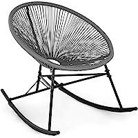 blumfeldt Roqueta Chair Silla Mecedora - Diseño Retro, Tiras de Mimbre de 4 mm, Armazón Hecho enteramente de Acero…