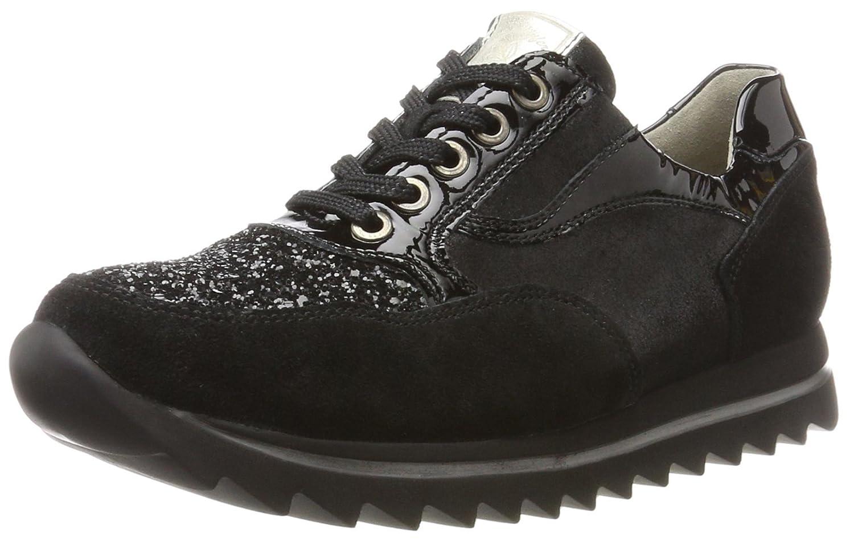 Waldläufer Haiba, Zapatos de Cordones Derby para Mujer 39 EU|Negro (Vel. Bril. Slackk Glit. Sl Schwarz Nero 001)