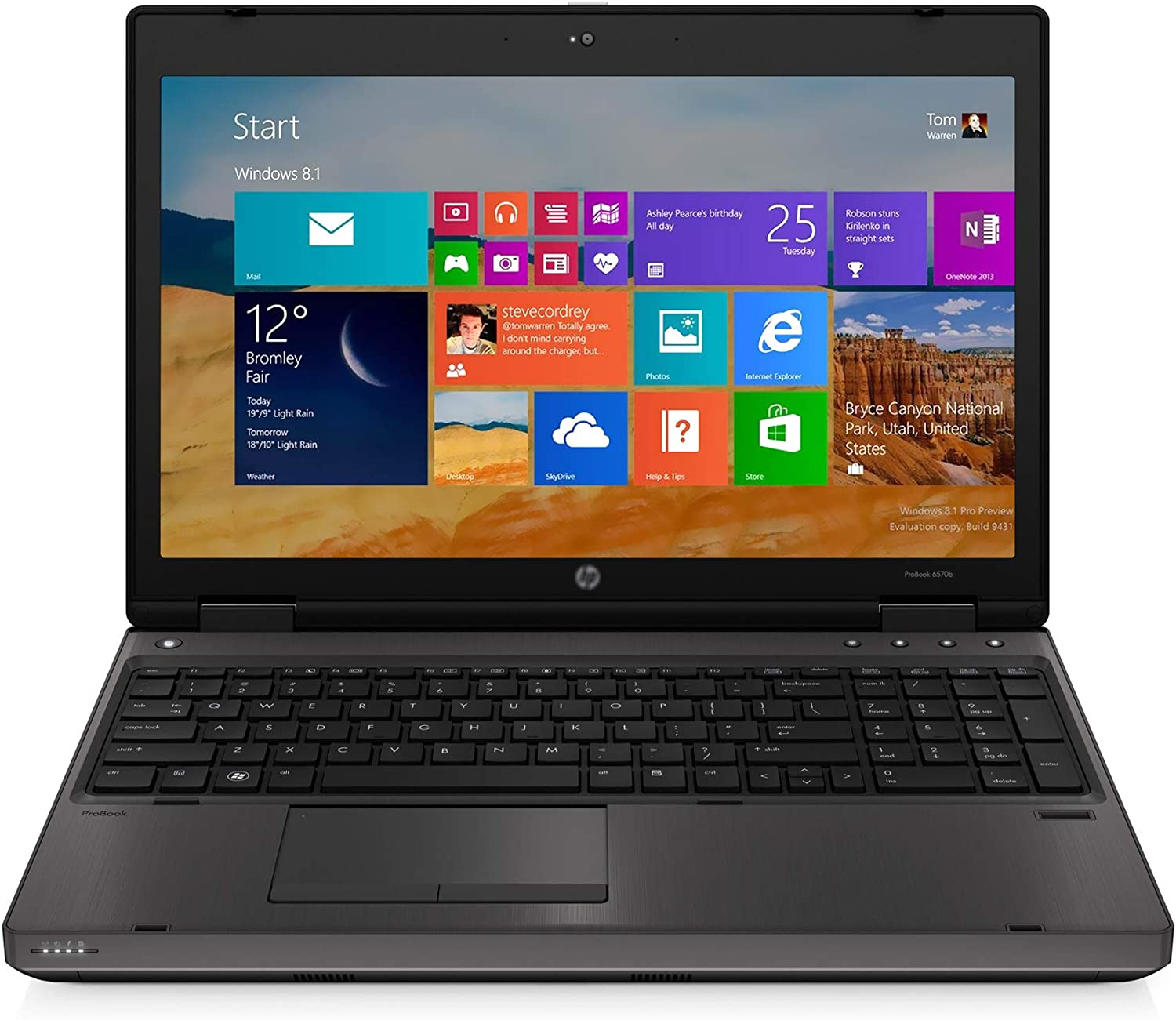 Used Business Professional Laptop in Good Condition 6570B Notebook PC Intel Core i5-3320M 2.5Ghz 4GB RAM 320GB SSD DVDRW Windows 10 Laptop