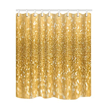 Image Unavailable Not Available For Color NYMB Gold Sequin Shower Curtains