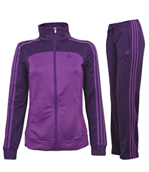 adidas Trainingsanzug ESS 3S Kn Suit lila (ML, aubergine