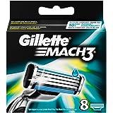 Gillette - Mach3 - Lames de Rasoir pour Homme - 8 Recharges