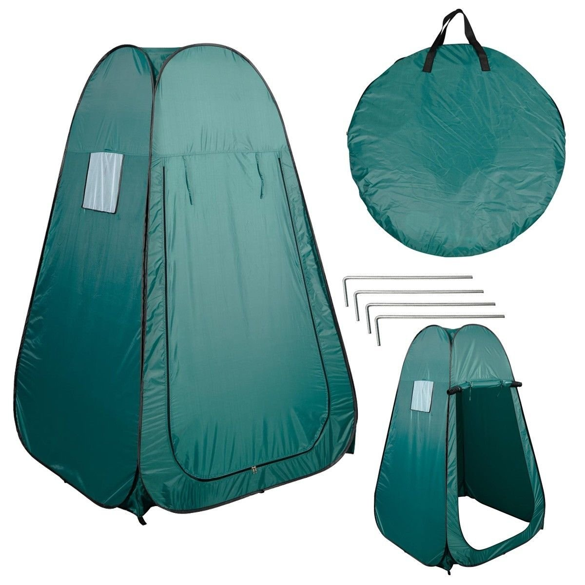 Amazon.com Kseven Portable Pop Up Changing Tent - Green Cabana Fishing Bathing Toilet C&ing Private Dressing Room Polyurethane coated Zipper Door ...  sc 1 st  Amazon.com & Amazon.com: Kseven Portable Pop Up Changing Tent - Green Cabana ...