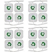 16 electrodos TESMED para electroestimulador mm. 40 x 40, universales, lavables, gel no necesario