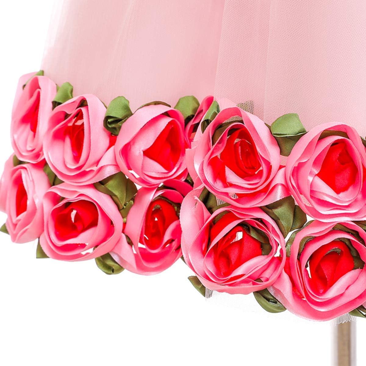 OwlFay Baby Girls Flower Tutu Dress Summer Backless Wedding Birthday Party Gowns