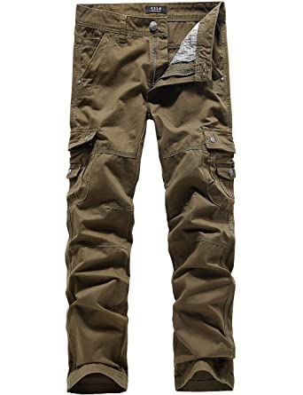 SSLR Men's Cotton Long Cargo Pants (42, Breen) at Amazon Men's ...