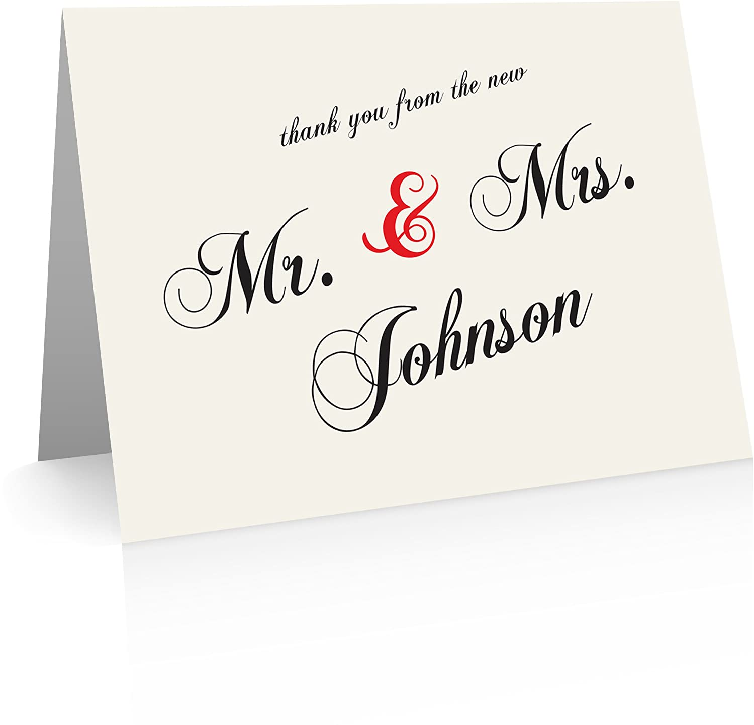 Amazon Personalized Wedding Thank You Cards 40 Foldover Cards