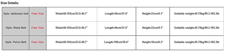 Pelvis Belt a Set for Postpartum Slimming Burn Fat Weight Loss Sport Body Shaper Tummy Control Fat Burner Girdle Bodysuit Kingko/® Free Size Womens Waist Trainer Corset Abdomen Belt Waist Belt