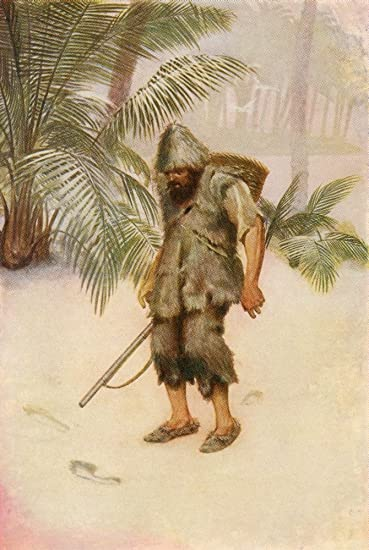 Image result for robinson crusoe footprint