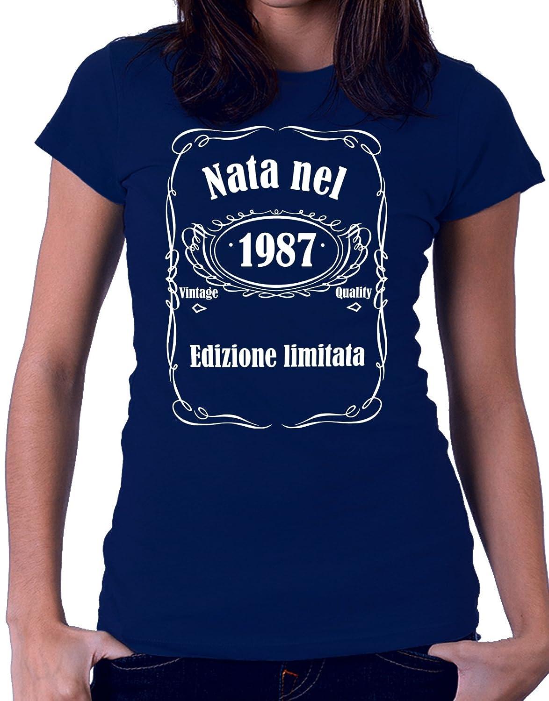 Tshirt compleanno Nata nel 1987 - edizione limitata - vintage quality - idea regalo - eventi - - Tut...