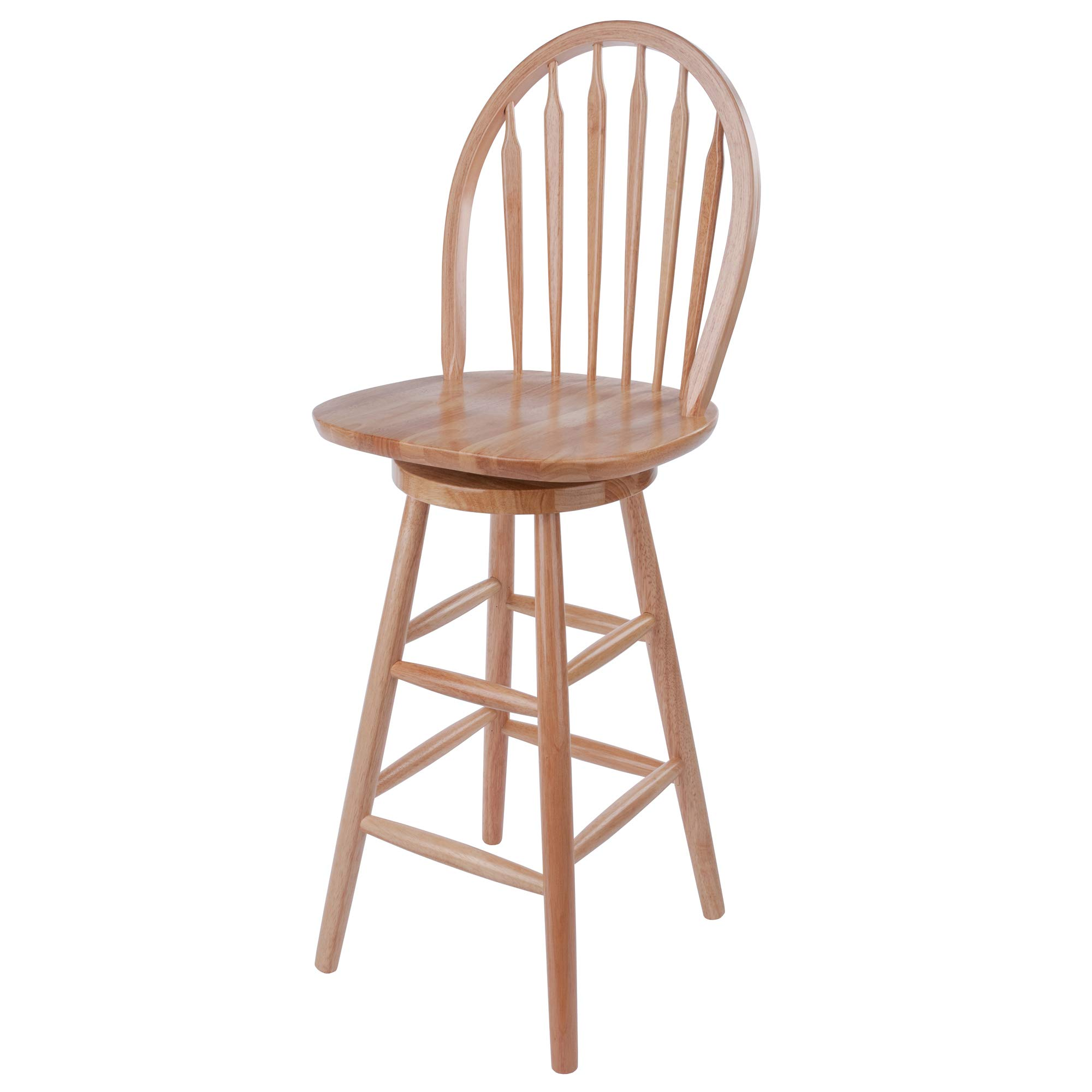 Wagner Arrow-Back Counter Stool with Swivel Seat by Winsome Wood