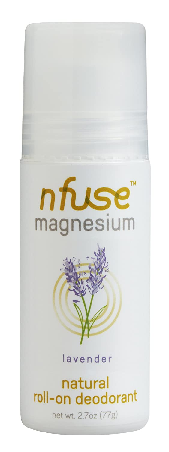 The nfuse Lavender Magnesium Roll-on Deodorant travel product recommended by Emily Zollinger on Pretty Progressive.