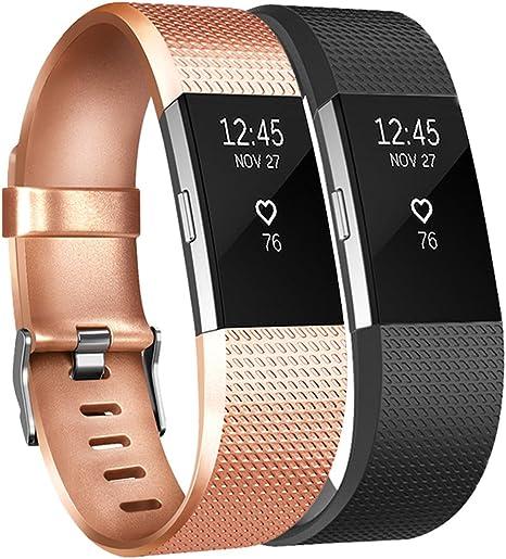 Imagen deTobfit Fitbit Charge 2 - Correa ajustable de repuesto para Fitbit Charge 2 - Tamaños: pequeño, grande