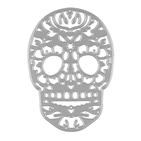 Gosear Troqueles Scrapbooking Hojas - Halloween cráneo Repujado Corte Matrices Plantillas Molde para Bricolaje Scrapbooking álbum